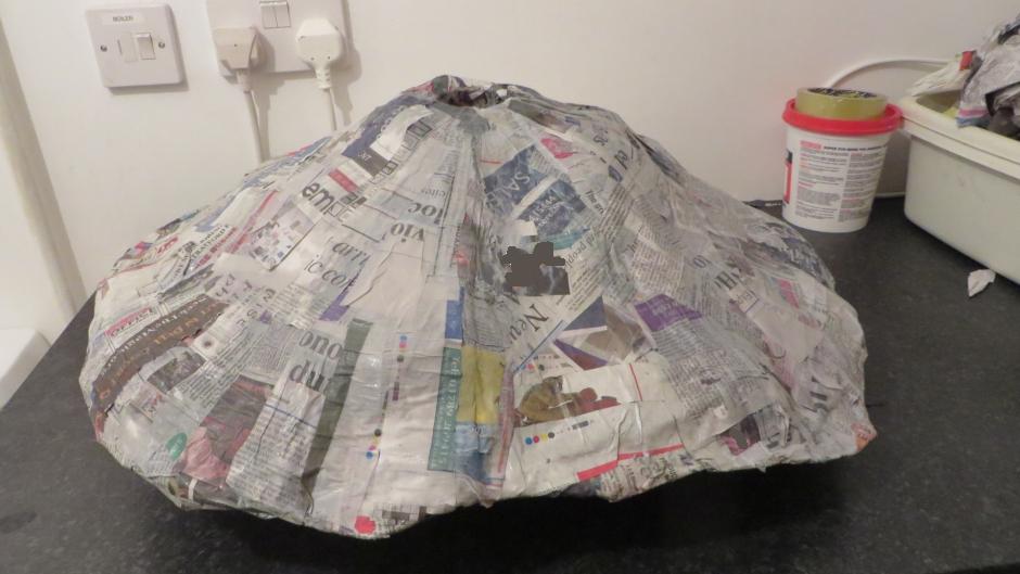 Mount Vesuvius Paper Mache