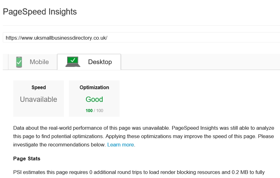 Google Pagespeed Insights Updated