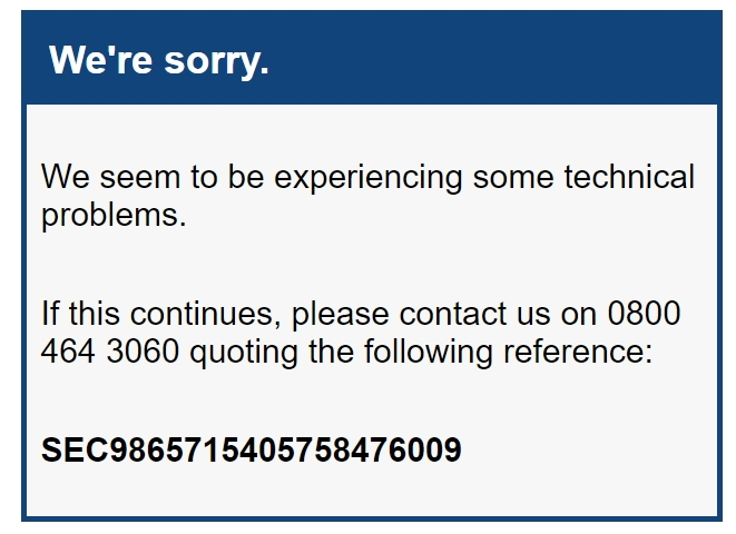 nationwide error message