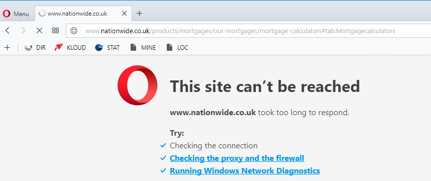 nationwide.co.uk website down