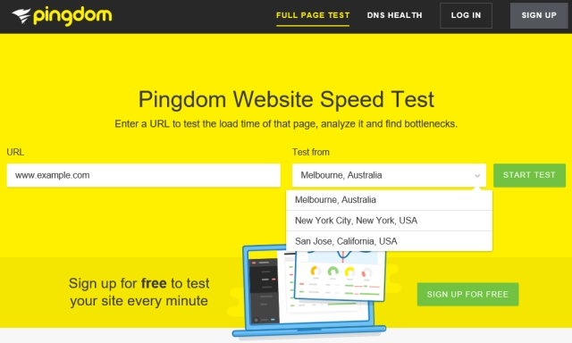 Pingdom Speed Test Sweden