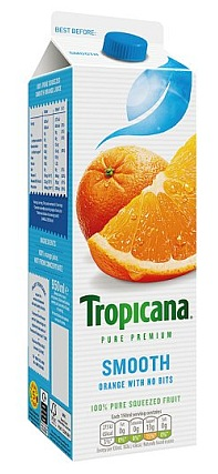 950ml carton of Tropicana Orange Juice
